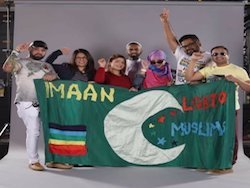 image of  Muslim group showing their support for the LGBT community